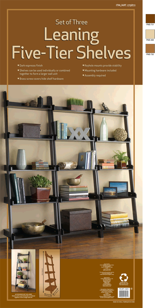 leaning shelves 3pk shelvesf